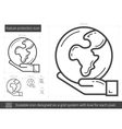 Nature protection line icon vector image