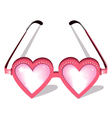 Valentine pink glasses vector image