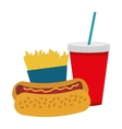 fast food related icon image vector image