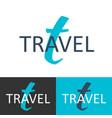 travel logo letter t logo logo template vector image