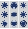 icons suns vector image vector image