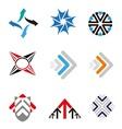 Set of 9 Arrow logo element vector image