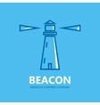 Lighthouse design logo vector image
