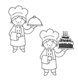 Kitchen and confectioner vector image