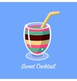 Many Layers Cocktail vector image