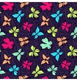 Butterflies and Waves Big Color vector image