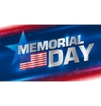 Lettering Memorial Day on the background vector image