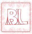 BL monogram vector image