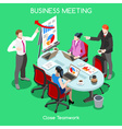 Business Room 04 People Isometric vector image