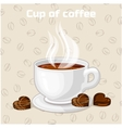 Cup of coffee and sweets Icon vector image