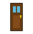 door isolated image vector image
