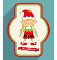 Elf girl of Christmas season design vector image
