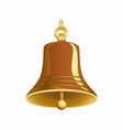 Gold bell vector image