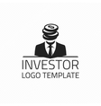 Investor logo template vector image