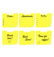 office note papers - business communication vector image