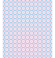 Seamless love pattern Blue hearts and pink dots on vector image