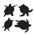 Turtle silhouettes vector image