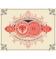 Vintage card design with floral details vector image