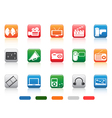 button media tools icon set vector image