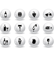 Web buttons wine icons vector image vector image