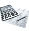 Financial charts and graphs on the table vector image