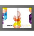 Abstract circles annual report covers vector image