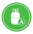 camping gas bottle icon vector image