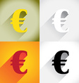 Euro currency symbol vector image vector image