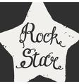 Rock star grunge icon vector image