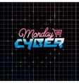Cyber Monday online shopping and marketing concept vector image