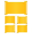 orange paper banners vector image vector image
