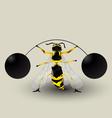 Loosing weight bee Vector Image