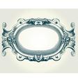 baroque frame vector image vector image