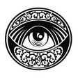 eye of providence vector image