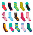 funny socks with different patterns vector image
