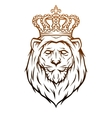 King lion heraldic symbol vector image