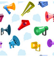 megaphone icons communication tool vector image