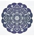 Paisley floral mandala vector image