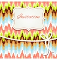 Vintage invitation card with abstract ornament vector image