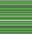 Zigzag pattern in wild green isolated on white vector image