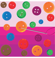 Assorted Buttons vector image vector image