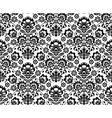 Seamless floral polish pattern in black and white vector image vector image