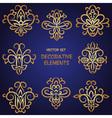 Golden decorative ethnic elements set vector image vector image