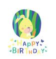 greeting card bunny vector image