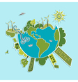 Green World ecologic elements vector image vector image