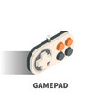 gamepad icon symbol vector image