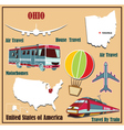 Flat map of Ohio vector image