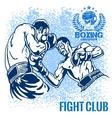 Boxing Match - Retro on grunge vector image