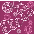 Seamless ornament in color 125 vector image vector image