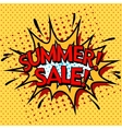 Color summer sale banner Pop art comic book vector image